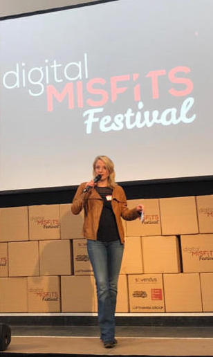 Merle Becker Speaker auf dem Digital Misfits Festival in Köln
