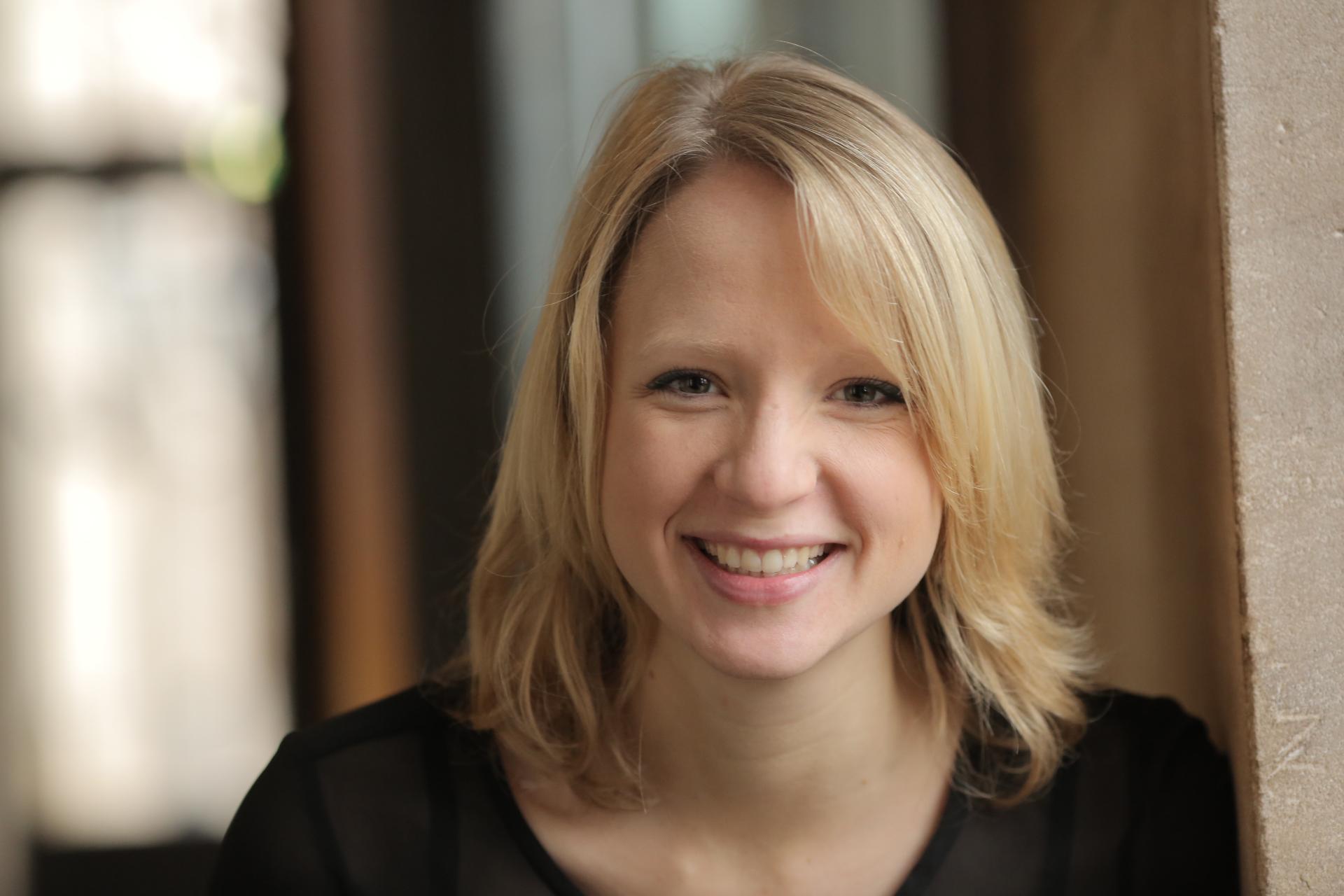 Moderatorin Merle Becker